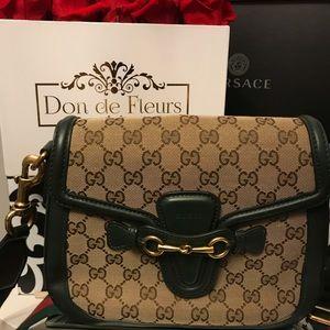 Green Web GG Lady Web Gucci Handbag Like New